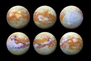 TITAN photographed in infrared