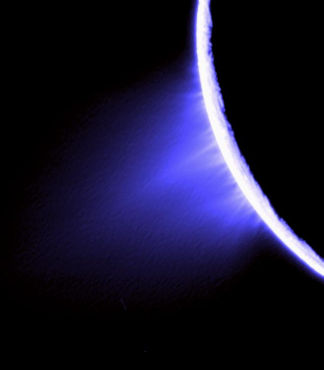 Cassini imaging scientists used views like this one to help them identify the source locations for individual jets spurting ice particles, water vapor and trace organic compounds from the surface of Saturn's moon Enceladus