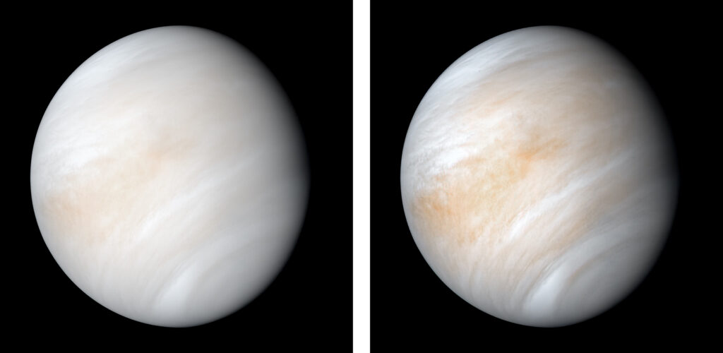 Venus over 2 days