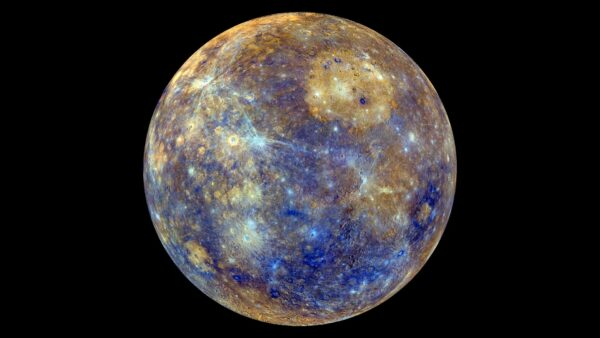 Mercury coloured for mineral composition