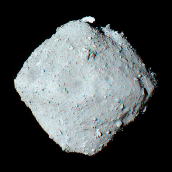 Asteroid Ryugu as photographed by Japanese mission Hayabusa2