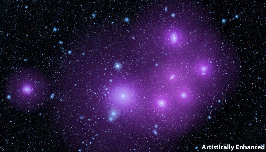 dark matter halos in galaxy clusters