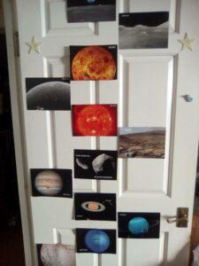 PostcardsFromSpace on a bedroom door